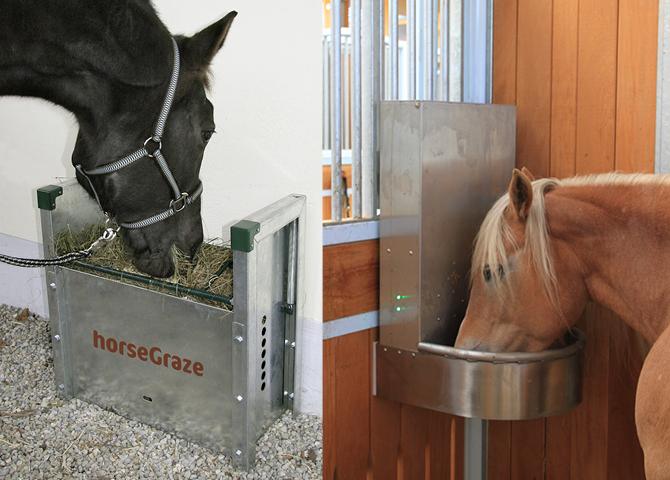 Futterautomaten für Kraftfutter oder Heu im Pferdestall
