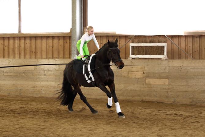 Voltigieren auf dem Pferd